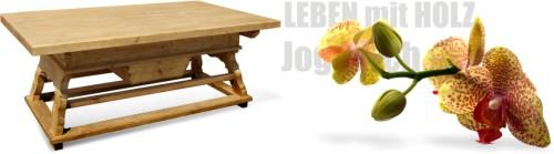 Jogltisch Vollholz Tisch nach Masz