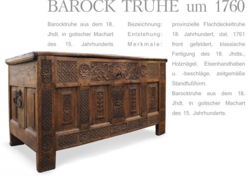 antike Barock Truhe