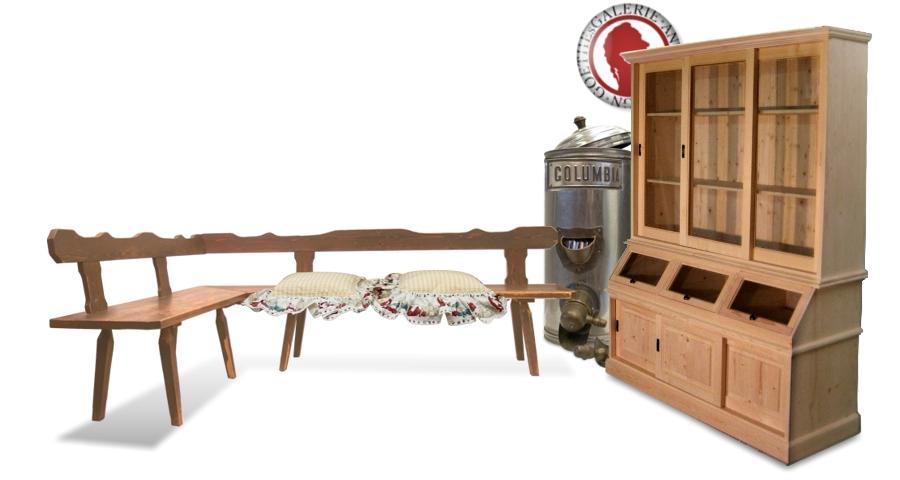 Vitrine Buffet Küchenschrank Naturholz